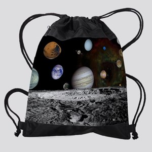 Solar System Montage Drawstring Bag