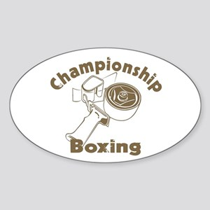 Championship Boxing Oval Sticker