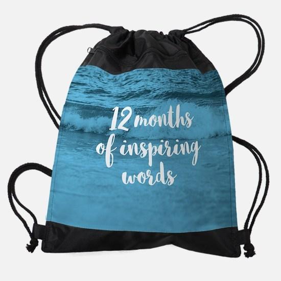 12 Months of Inspiring Words Drawstring Bag