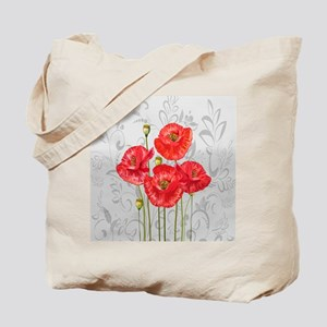Four pretty red poppies Tote Bag