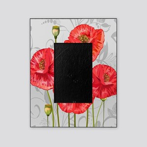 Four pretty red poppies Picture Frame