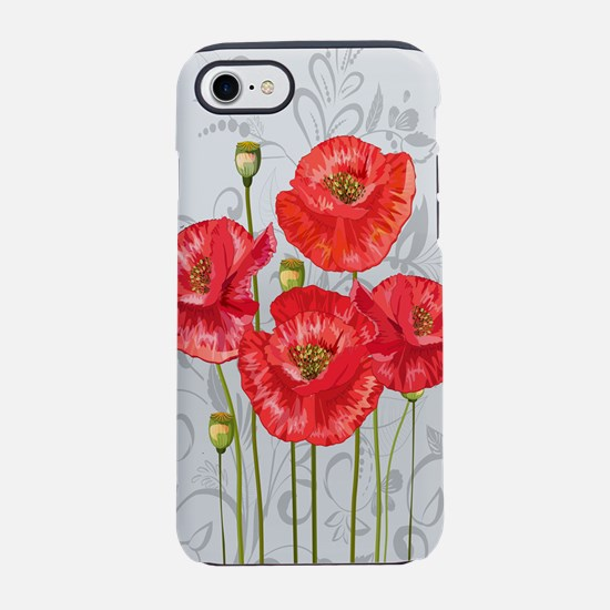 Four pretty red poppies iPhone 7 Tough Case