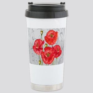 Four pretty red poppies Mugs