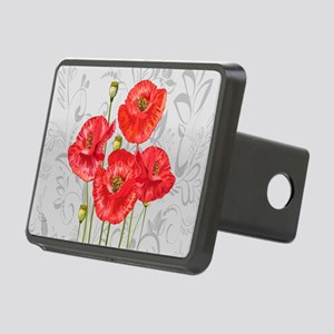 Four pretty red poppies Rectangular Hitch Cover