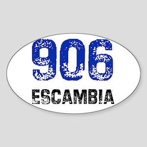 906 Oval Sticker