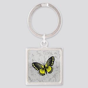 Whimsical yellow butterfly Keychains