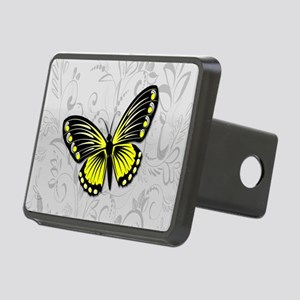Whimsical yellow butterfly Rectangular Hitch Cover