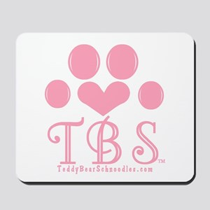 TBS Pink Monogram/Logo Mousepad