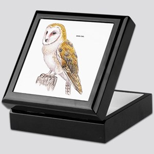Barn Owl Bird Keepsake Box