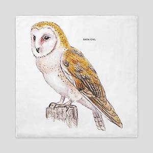 Barn Owl Bird Queen Duvet