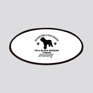 Black Russian Terrier Mommy Vector designs Patches