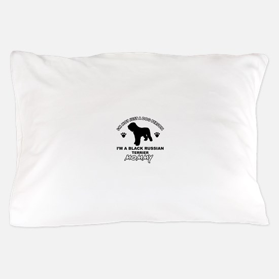 Black Russian Terrier Mommy Vector designs Pillow