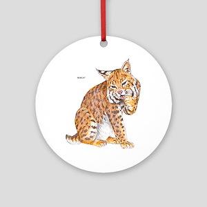 Bobcat Wild Cat Ornament (Round)