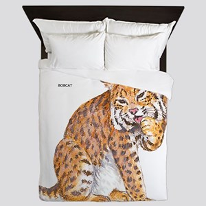 Bobcat Wild Cat Queen Duvet