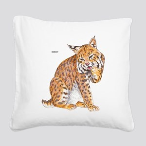 Bobcat Wild Cat Square Canvas Pillow