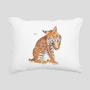 Bobcat Wild Cat Rectangular Canvas Pillow
