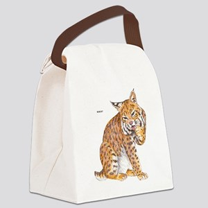 Bobcat Wild Cat Canvas Lunch Bag