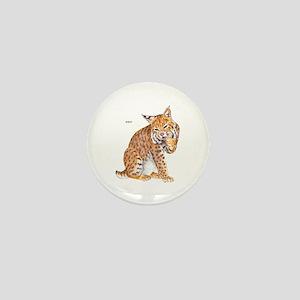 Bobcat Wild Cat Mini Button