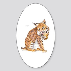 Bobcat Wild Cat Sticker (Oval)