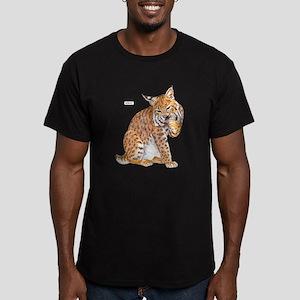 Bobcat Wild Cat Men's Fitted T-Shirt (dark)