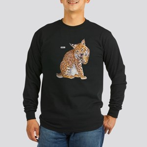 Bobcat Wild Cat Long Sleeve Dark T-Shirt
