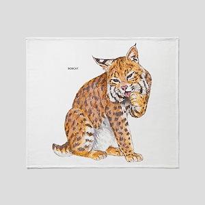 Bobcat Wild Cat Throw Blanket