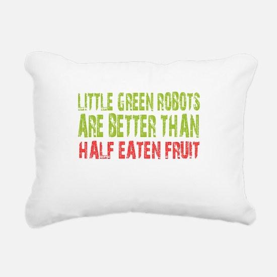 Little green robots better than half eaten fruit R