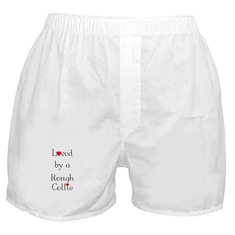 Loved by a Rough Collie Boxer Shorts