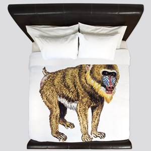 Mandrill Monkey Ape King Duvet