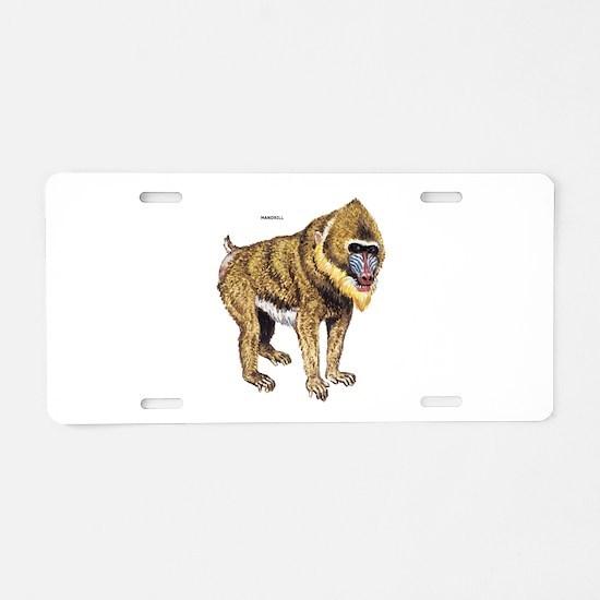 Mandrill Monkey Ape Aluminum License Plate