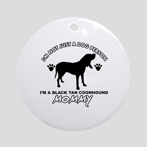 Black Tan Coonhound Mommy Vector designs Ornament