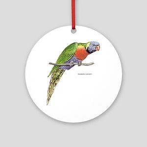 Rainbow Lorikeet Bird Ornament (Round)
