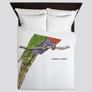 Rainbow Lorikeet Bird Queen Duvet