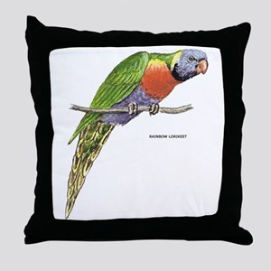 Rainbow Lorikeet Bird Throw Pillow