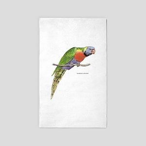 Rainbow Lorikeet Bird 3'x5' Area Rug