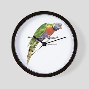 Rainbow Lorikeet Bird Wall Clock