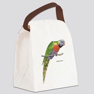 Rainbow Lorikeet Bird Canvas Lunch Bag