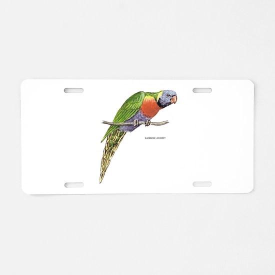 Rainbow Lorikeet Bird Aluminum License Plate