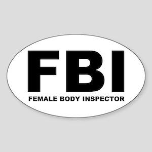 FBI Oval Sticker