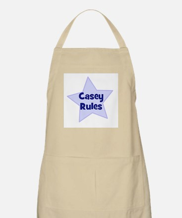Casey Rules BBQ Apron
