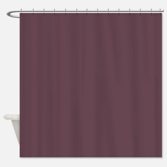Plum Wine Shower Curtain