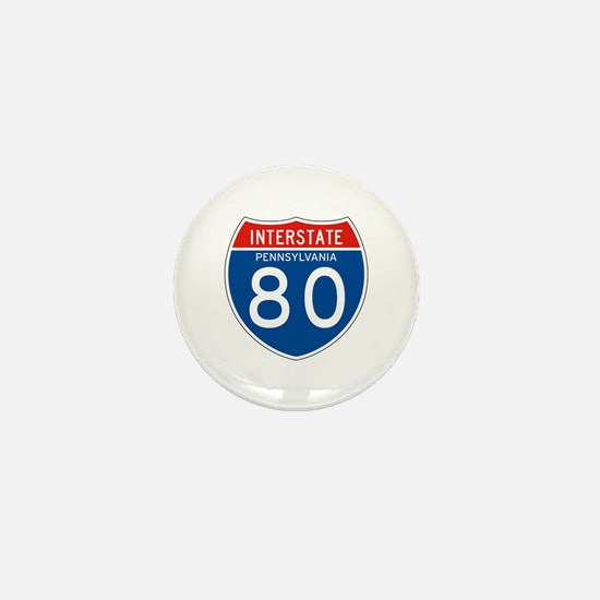 Interstate 80 - PA Mini Button