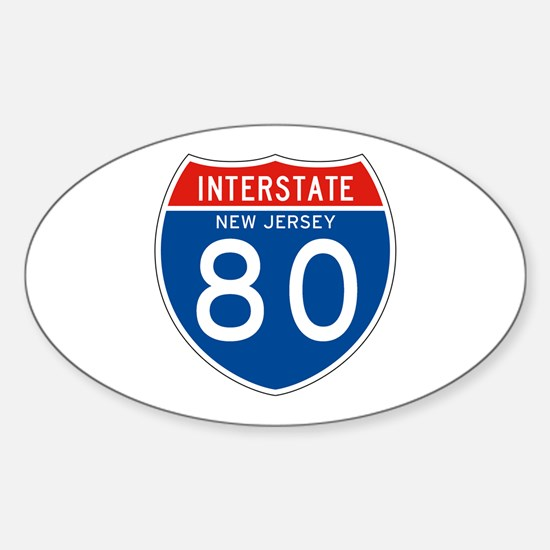 Interstate 80 - NJ Oval Decal