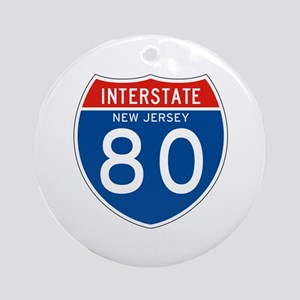 Interstate 80 - NJ Ornament (Round)