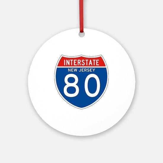 Interstate 80 - NJ Ornament (Round)