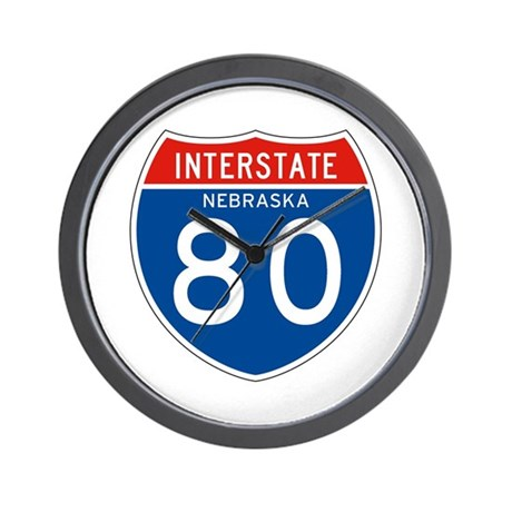 Interstate 80 - NE Wall Clock
