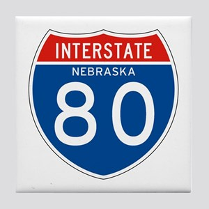 Interstate 80 - NE Tile Coaster