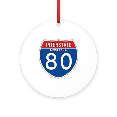 Interstate 80 - NE Ornament (Round)