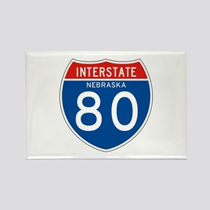 Interstate 80 - NE Rectangle Magnet