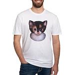 Blue Eyed Kitten 2 Fitted T-Shirt